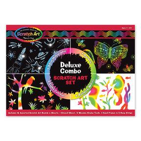 Deluxe Combo Scratch Art Set 16 Boards, 2 Stylus Tools, 3 Frames