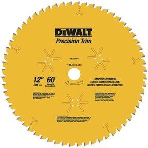 "DW3232PT Fine Cut Coated Circular Saw Crosscut Saw Blade 12"" x 80 Tooth Thin Kerf"