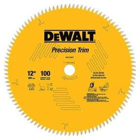 "DW72100PT Precision Trim Circular Saw Miter Saw Blade 12"" x 100 Tooth"