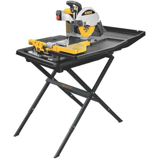 """View a Larger Image of Heavy-Duty 10"""" Wet Tile Saw with Stand, Model D24000S"""