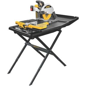 """Heavy-Duty 10"""" Wet Tile Saw with Stand, Model D24000S"""