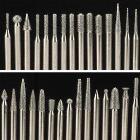 Diamond Tip Carving Burr Set - 120 Piece