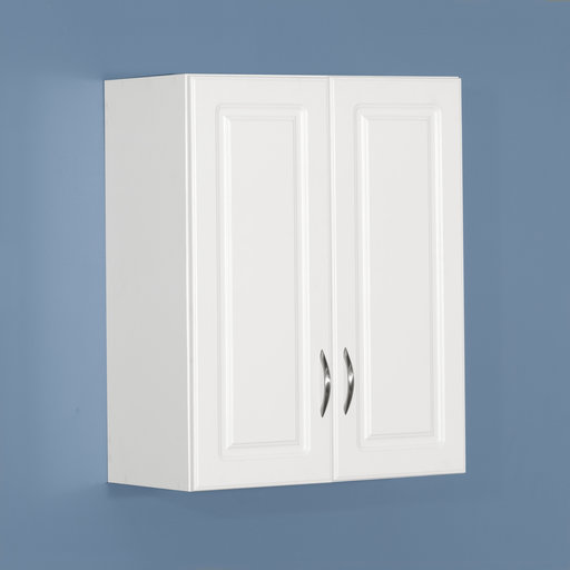 View a Larger Image of Dimensions Wall Cabinet, White