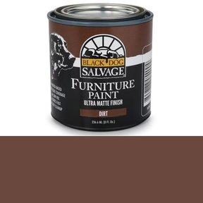 Dirt - Brown Furniture Paint, 1/2 Pint 236.6ml (8 fl. Oz.)