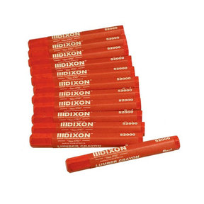 Dixon Lumber Crayon Red Pack of 12