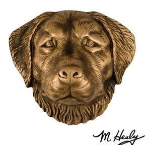 Dog Knockers Golden Retriever Door Knocker, Bronze