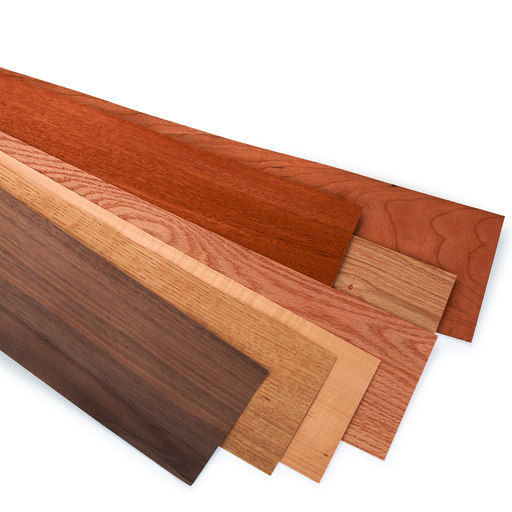 """View a Larger Image of Domestic Wood Veneer - 5-1/2"""" x 48"""" - Mixed Variety - 12 Square Foot Pack"""