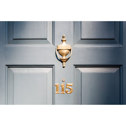 "View a Larger Image of Door Knocker Antique Brushed Copper 6 1/4"" (159 mm)"