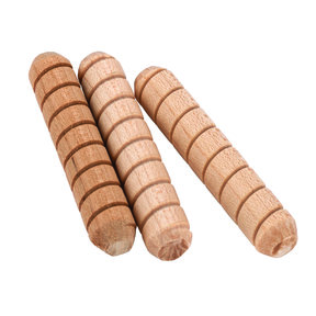 "15 pc 1/4"" x 1-1/2"" Spiral Groove Wood Dowel Pins"