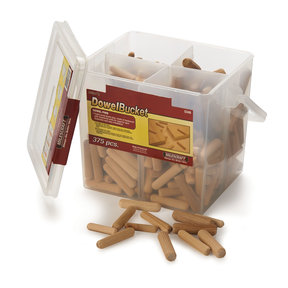 DowelBucket - Fluted Wood Dowel Pins - 375 Piece