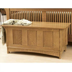 Downloadable Woodworking Project Plan to Build Arts and Crafts Blanket Chest