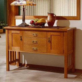 Downloadable Woodworking Project Plan to Build Arts and Crafts Buffet