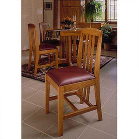 Downloadable Woodworking Project Plan to Build Arts and Crafts Dining Chairs
