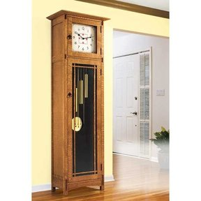Downloadable Woodworking Project Plan to Build Arts and Crafts Heirloom Tall Clock