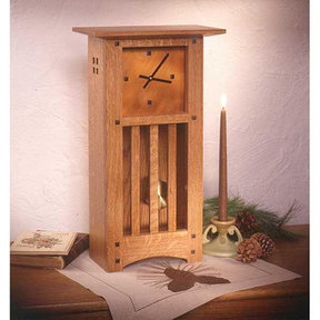 Downloadable Woodworking Project Plan to Build Arts and Crafts Mantle Clock