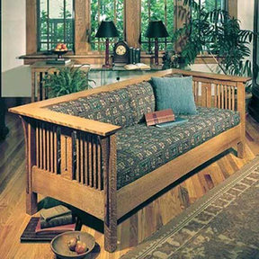 Downloadable Woodworking Project Plan to Build Arts and Crafts Mission Sofa and Chair