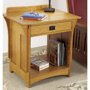 Downloadable Woodworking Project Plan to Build Arts and Crafts Nightstand