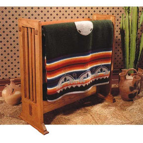Downloadable Woodworking Project Plan to Build Arts and Crafts Quilt Rack