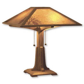 Downloadable Woodworking Project Plan to Build Arts and Crafts Table Lamp