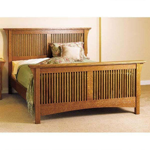 View a Larger Image of Downloadable Woodworking Project Plan to Build Arts & Crafts Bed