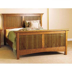 Downloadable Woodworking Project Plan to Build Arts & Crafts Bed