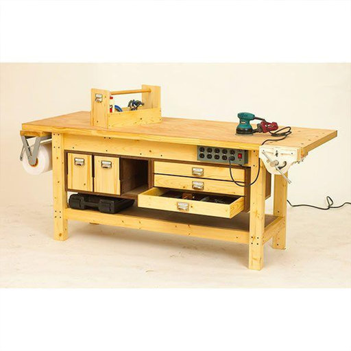 View a Larger Image of Downloadable Woodworking Project Plan to Build Basic Workbench and 6 Ways to Beef It Up