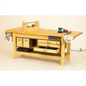 Downloadable Woodworking Project Plan to Build Basic Workbench and 6 Ways to Beef It Up