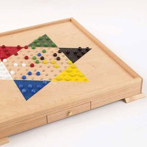 Downloadable Woodworking Project Plan to Build Chinese Checker Board