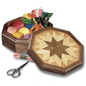 Downloadable Woodworking Project Plan to Build Country All-Star Keepsake Box