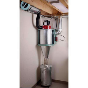 Downloadable Woodworking Project Plan to Build Cyclone Dust Collector