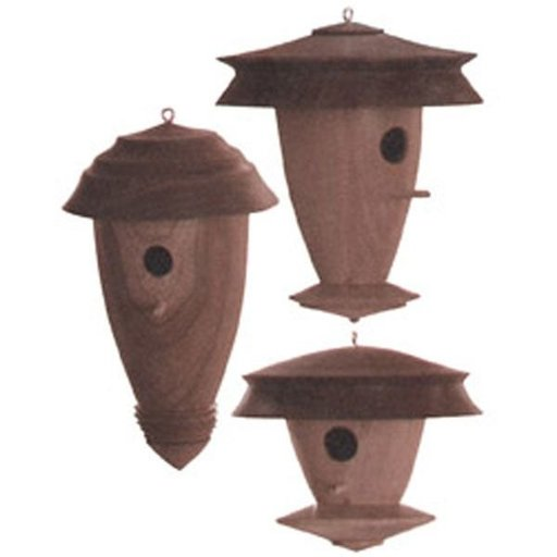 View a Larger Image of Downloadable Woodworking Project Plan to Build Decorative Turned Birdhouse