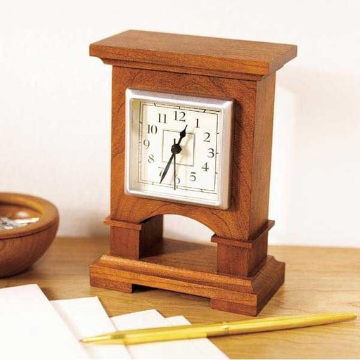 View a Larger Image of Downloadable Woodworking Project Plan to Build Easy-To-Make Desk Clock