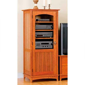 Downloadable Woodworking Project Plan to Build Entertainment Center Tower Cabinet
