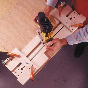 Downloadable Woodworking Project Plan to Build Fail-Safe Router Jig