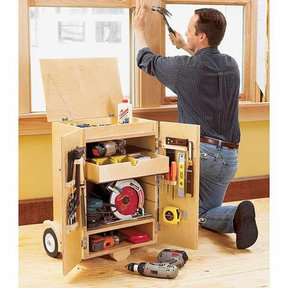 Downloadable Woodworking Project Plan to Build Go-Anywhere Tool Caddy