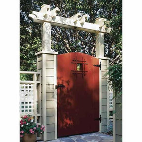 Downloadable Woodworking Project Plan to Build Grand Entrance Garden Gate