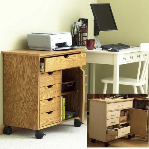 View a Larger Image of Downloadable Woodworking Project Plan to Build Home/Shop Storage Cart