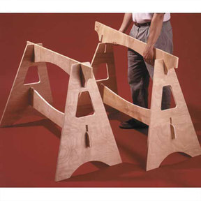 Downloadable Woodworking Project Plan to Build Knockdown Sawhorses