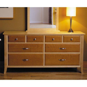 Downloadable Woodworking Project Plan to Build Maple & Cherry Eight-Drawer Dresser