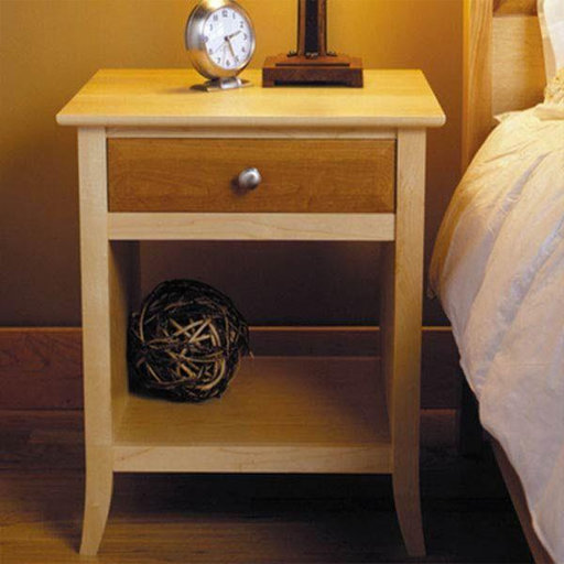 View a Larger Image of Downloadable Woodworking Project Plan to Build Maple & Cherry Nightstand