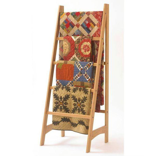 View a Larger Image of Downloadable Woodworking Project Plan to Build Quilt Ladder