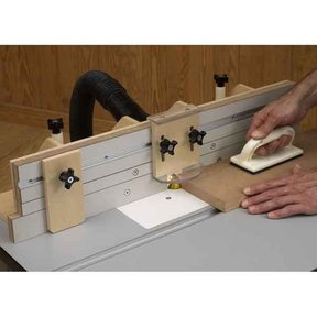 Downloadable Woodworking Project Plan to Build Router-Table Fence