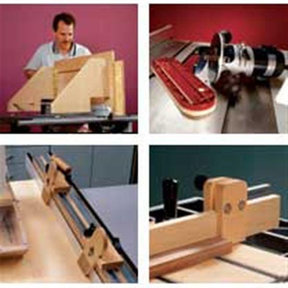 Downloadable Woodworking Project Plan to Build Seven Tablesaw Jigs