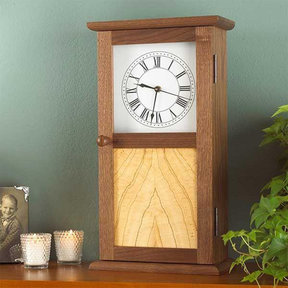 Downloadable Woodworking Project Plan to Build Shaker Clock