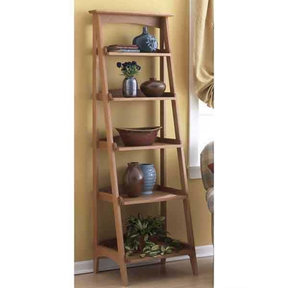 Downloadable Woodworking Project Plan to Build Shelves with a Fresh Slant