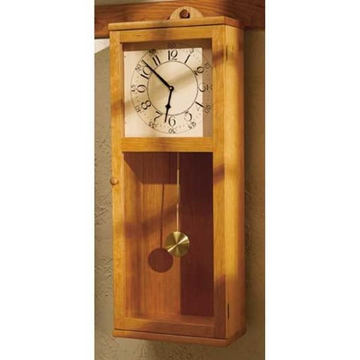 View a Larger Image of Downloadable Woodworking Project Plan to Build Simply Stated Shaker Clock
