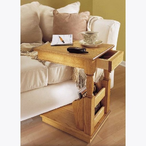 View a Larger Image of Downloadable Woodworking Project Plan to Build Sofa Valet