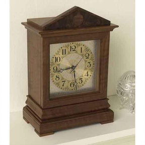 Downloadable Woodworking Project Plan to Build Time-honored Bracket Clock