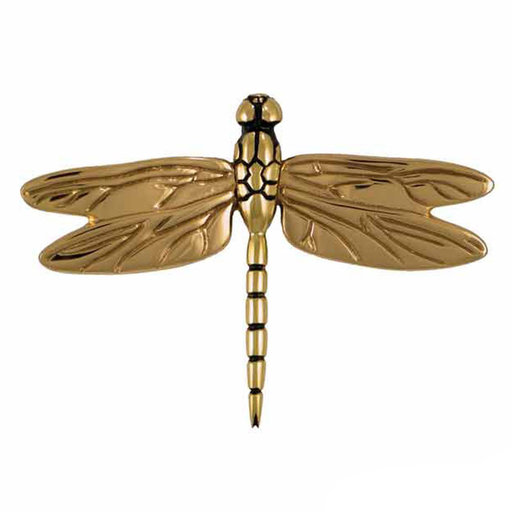 View a Larger Image of Dragonfly Door Knocker - Brass