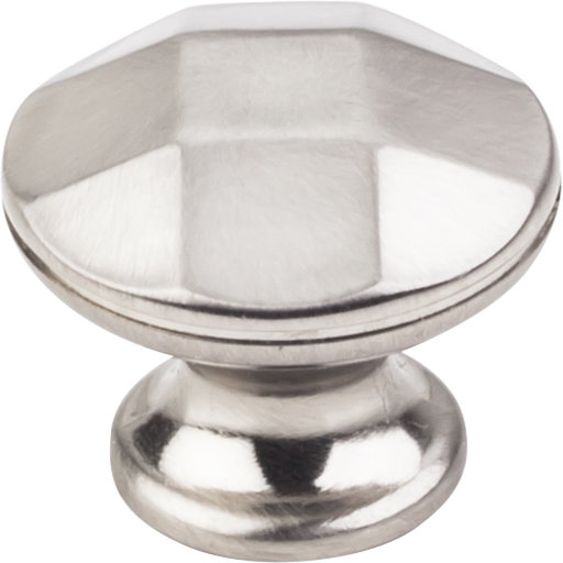 """View a Larger Image of Drake Faceted Geometric Knob, 1-3/16"""" Dia.,  Satin Nickel"""